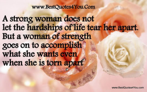 quotes on being a lady | strong woman does not let the hardships of ...