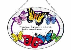 Butterflies with Bible Verse Suncatcher 5.25x7IN