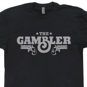 ... Gambler T Shirt Poker Kenny Rogers Texas Hold 'Em Las Vegas Casino Tee