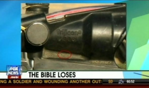 ... inscribing Bible verses on military rifle scopes: