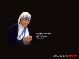 mother teresa quotes wallpaper Photo