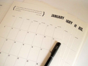 Printable 2014 Calendar featuring inspirational quotes, instant ...