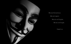 Les Anonymous en colère : leur logo et slogan devenus la propriété ...