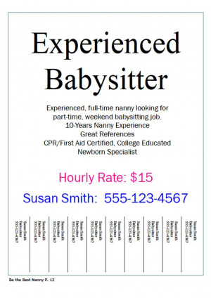 have seen more and more babysitting and nanny jobs advertised on ...