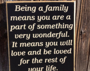 Inspirational Quote-Family wood sig n ...