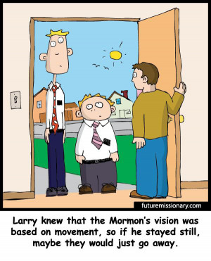 How to react to missionaries at your door