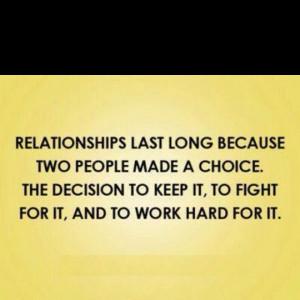 Relationships take work!