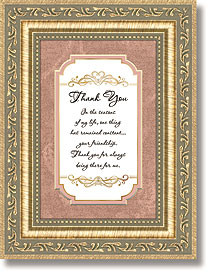 ... , Tote Bags & Throws » Framed Tabletop General Verses - Thank You