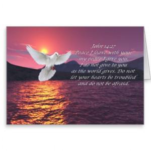 John 14:27 bible quotes card