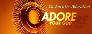 Eucharistic Adoration Banner