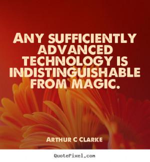 arthur c clarke inspirational quote canvas art make custom quote image
