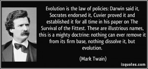 Evolution is the law of policies: Darwin said it, Socrates endorsed it ...