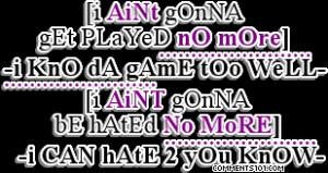 Ghetto Love Quotes Tumblr...