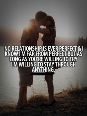 No relationship is perfect.