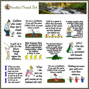 Golf Lover Quotes Quilt...