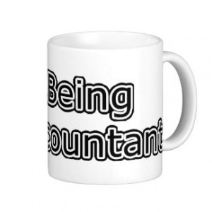 Heart Being an Accountant Coffee Mugs
