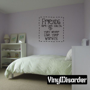 ... warmth Family and Friends Vinyl Wall Decal Mural Quotes Words