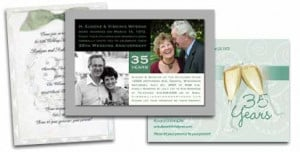 ... Anniversary Invitations, and surprise 35th Wedding Anniversary