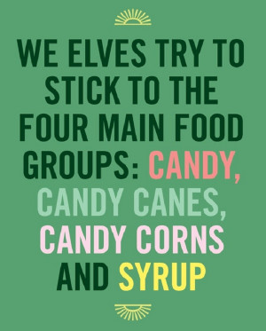 Santa's elves four main food groups..