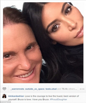... Jenner to Instagram as her step-father's interview was airing on ABC