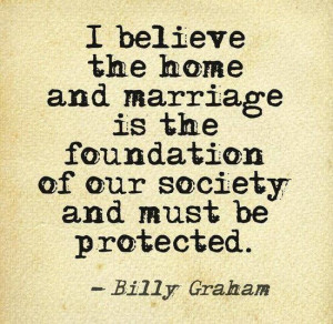 marriage home = foundation
