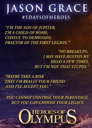 Jason Grace, classic quotes from Heroes of Olympus