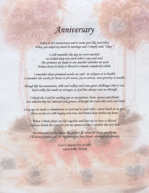 Christian Marriage Poems Anniversary poem