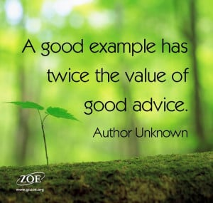 Be a good example!