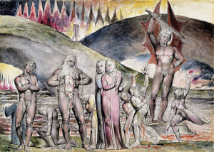 hell for heresy. - William Blake's Watercolor of Canto XXVIII (Lines ...