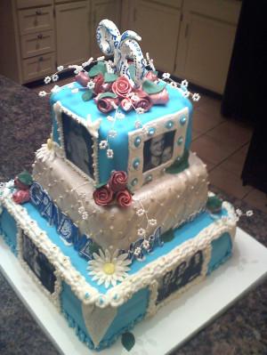 90th birthday cake with sugar