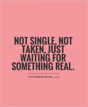 Single Love Quotes Picture quote #1. single