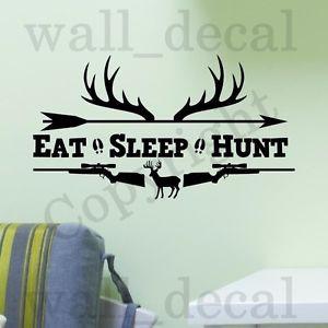 ... -Hunt-Rifles-Racks-Deer-Bow-Hunting-Wall-Decal-Vinyl-Sticker-Quote