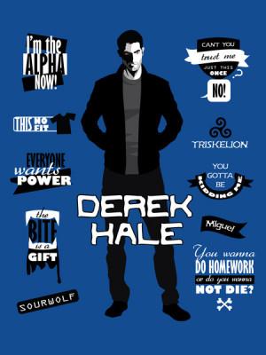 Derek Hale Quotes Teen Wolf Art Print