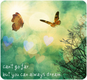 image quotes typography butterfly hearts can t go far dream sayings ...