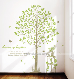 Growing Up Together Tree Wall Sticker