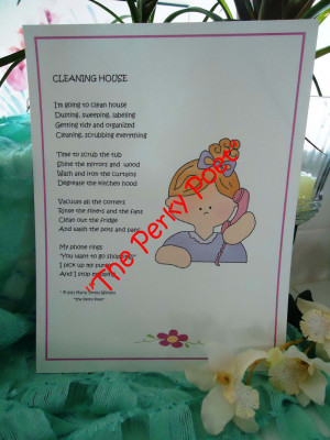 Cleaning House, Cute, Funny Friend Poem by
