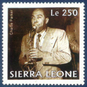 Charlie Parker as portrayed on a 1995 United States commemorative ...
