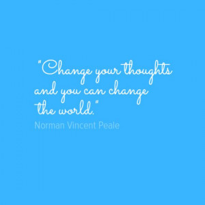 Norman Vincent Peale quote on changing the world