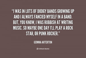 gemma arterton quotes i m always listening to music i can t live ...