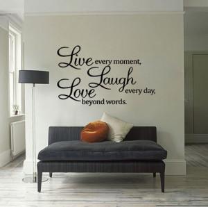 Live Laugh Love Wall Quote Vinyl Sticker Wall Decor Art Removable ...