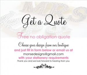 To order samples of our wedding stationery, just contact us at ...