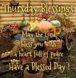 Thursday Blessings
