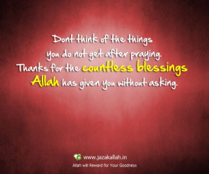 Islamic quote allah blessin