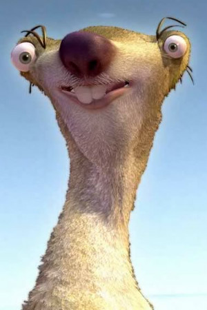 that he looks like sid from ice age on this picture