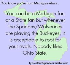 ... Ohio State. #michigan #pride #spartans #michigancreative #gogreen #msu