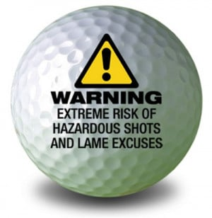home funny golf balls warning golf ball part number gb15