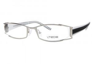 Silver and White Frame Eyeglasses