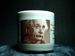 Einstein vegan ceramic mug by MarkoVeganoCeramics on Etsy, $5.00