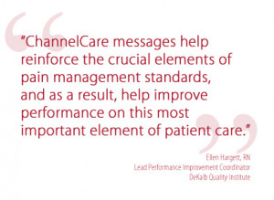 ChannelCare® digital signage nursing communications provide structure ...