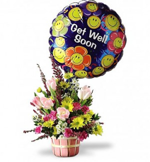 Flower Bouquets: Basket of Well Wishes